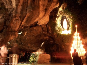 The grotto where Mary appeared and a spring suddenly gushed