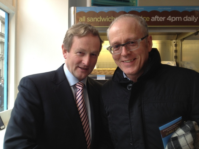 Kevin happens on the PM of Ireland in local coffee shop!